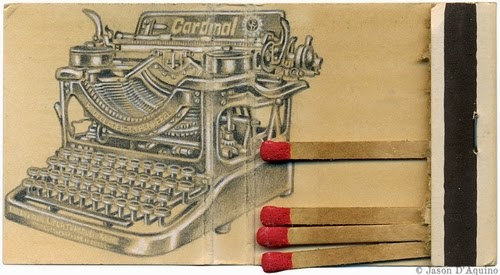 19-Typewriter-2-Jason-D-Aquino-Vintage-Matchbook-Drawings-www-designstack-co