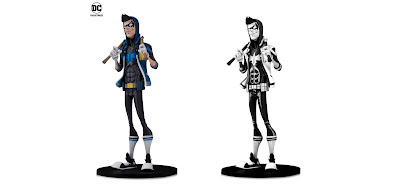 "DC Comics Artists Alley Nightwing Standard Edition & Black and White Variant Statues by HaiNaNu ""Nooligan"" Saulque x DC Collectibles"