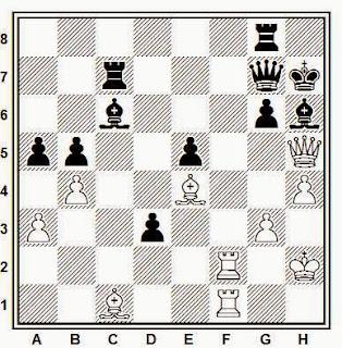 Posición de la partida de ajedrez Todorcevic - Schmidt (Belgrado, 1988)