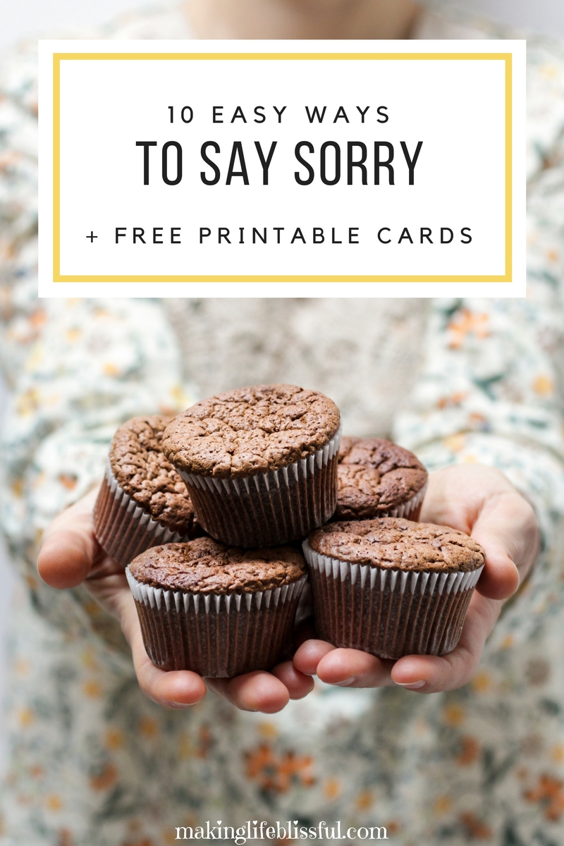 ... Say Sorry And Free Printable Iu0027m Sorry Cards (or Apology Cards) To Help  Make The Apology Not So Difficult. Use These For The #PrinceOfPeace  Initiative, ...  Free Printable Sorry Cards