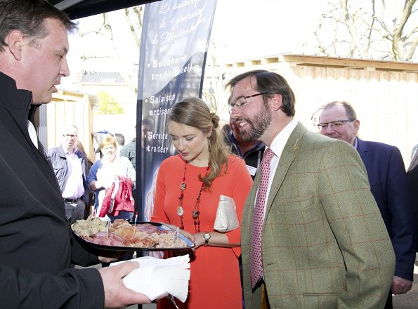 Prince Guillaume and Princess Stéphanie of Luxembourg attended