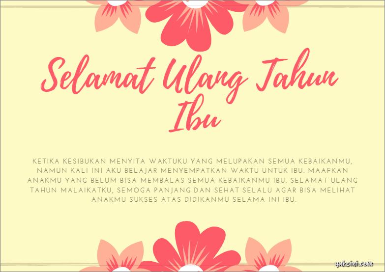 ucapan selamat ulang tahun islami ibu