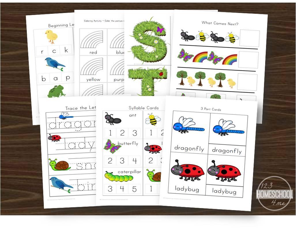 Free Spring Preschool Worksheets