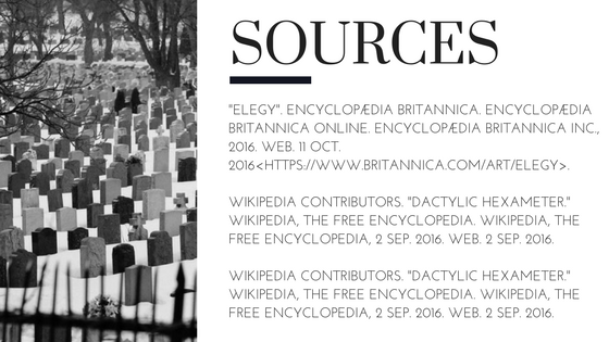 What is an Elegy? Sources