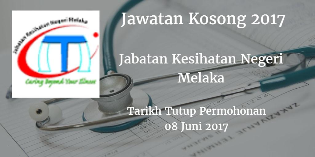 Jawatan Kosong Jabatan Kesihatan Negeri Melaka 08 Juni 2017