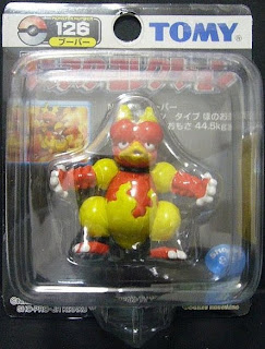 Magmar Pokemon figure Tomy Monster Collection black package series