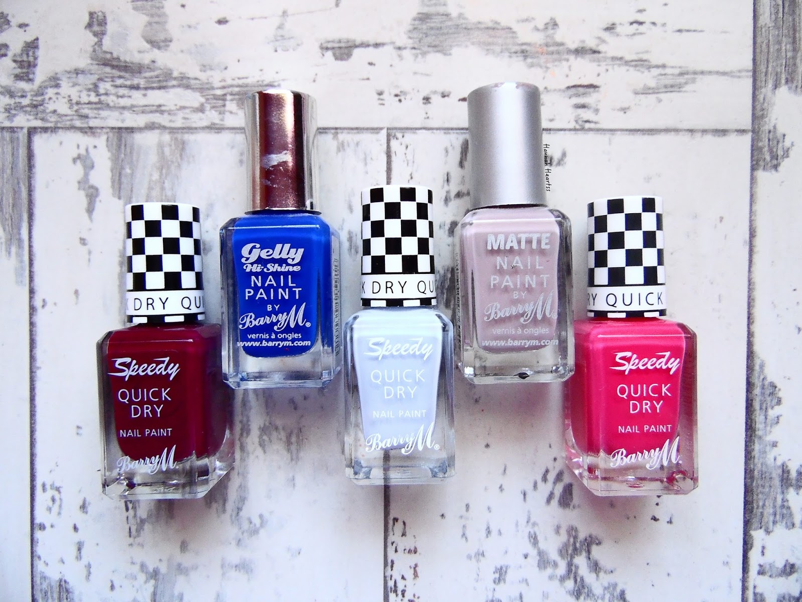 Top Five Barry M Nail Polishes