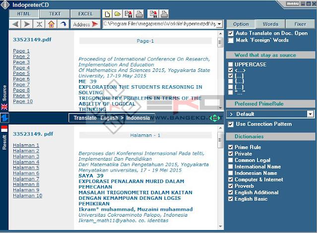 menerjemahkan file pdf dengan software