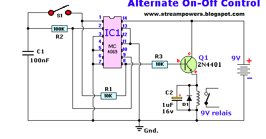 Momentary On Off Switch Circuit Diagram
