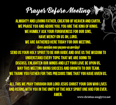Prayer Before Meeting