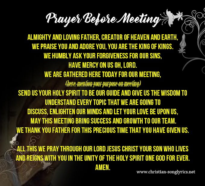 Prayer Before Office Meeting || Opening Prayer for Business Meeting