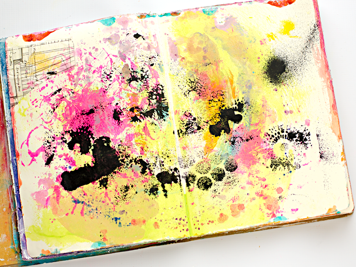 Hot Mess To Pretty Background In 5 Minutes Mixed Media Art
