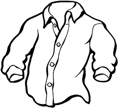 camisa para colorear e imprimir