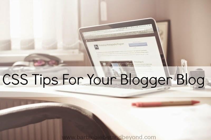 CSS Design Tips for Blogger