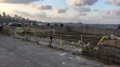 Old Alexandria corniche demolished