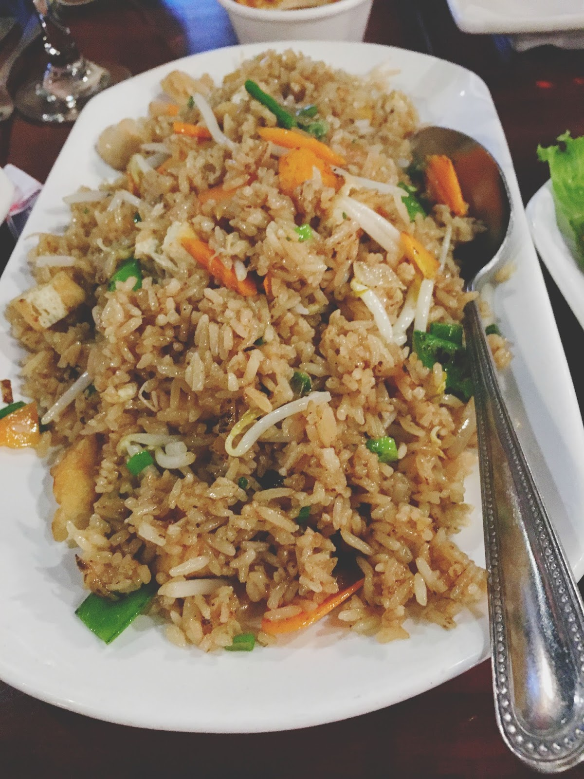 vegetable fried rice at Vietnam Restaurant in Houston, Texas