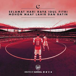 """Arsenal Turut Ucapkan """"Selamat Idul Fitri"""""""