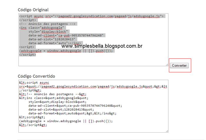 Como colocar anúncio dentro das postagens no blogger