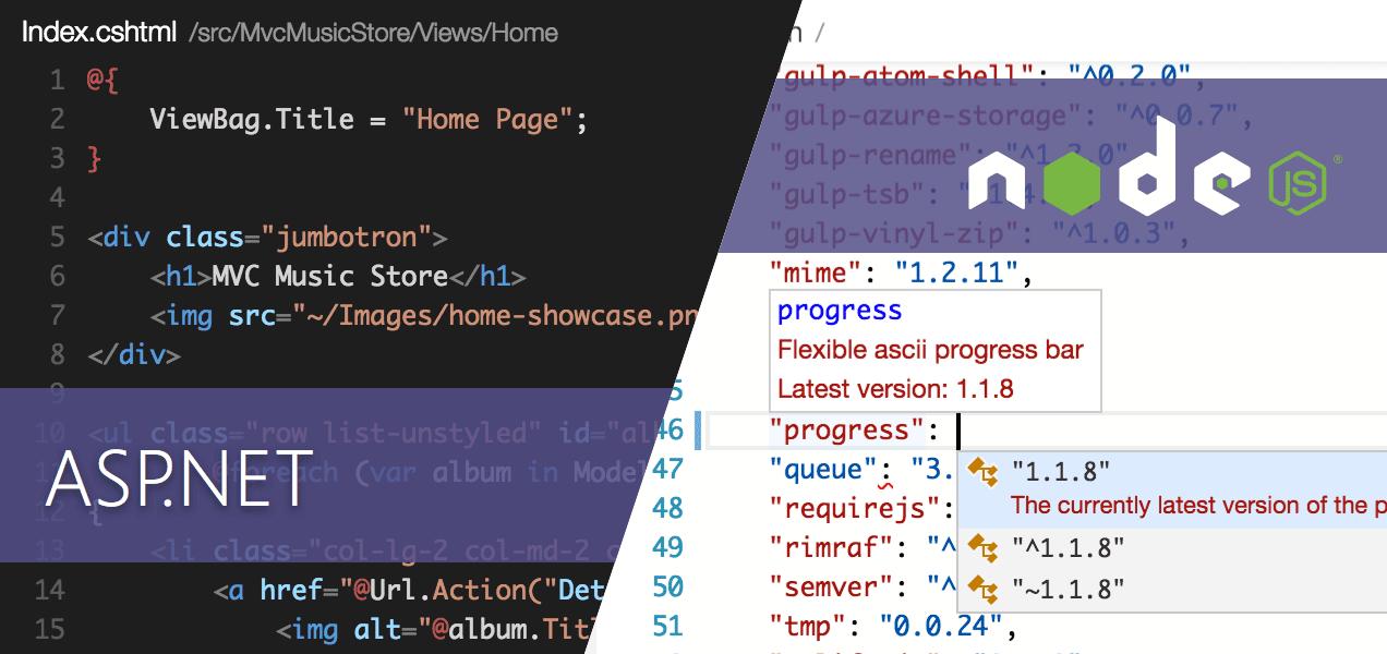 asp net vs node js