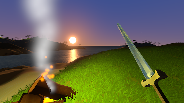 Sword and campfire
