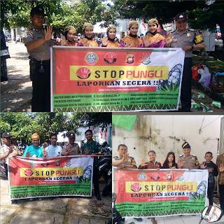 Peringati Hari Jadi Kota Pontianak ke 247 Bhabinkamtibmas Sosialisasi Stop Pungli