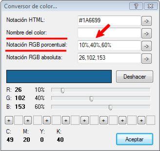 Conversor de color a distintas notaciones