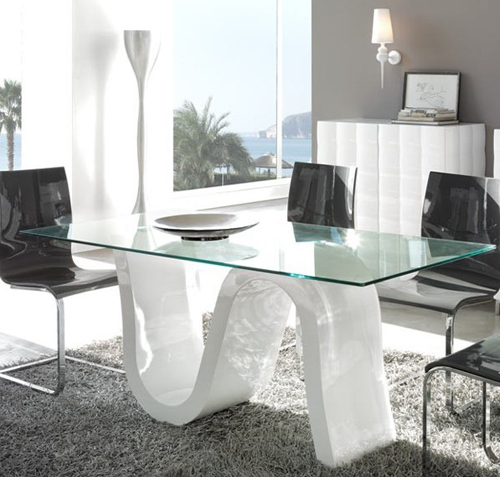 Decoracion sala cocina comedor - Mesas de salon blancas ...