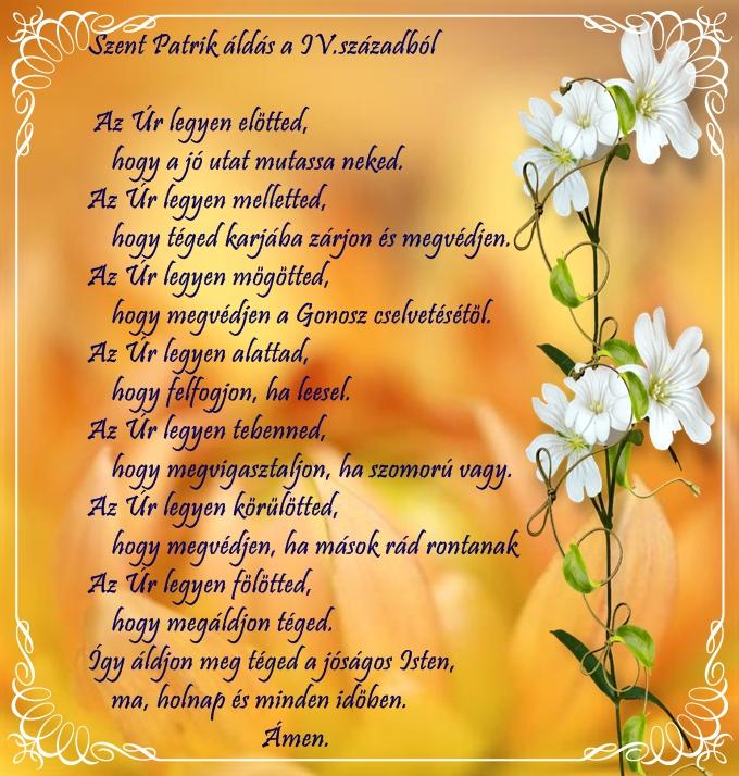 patrik névnapi köszöntő Reménykeltő: Szent Patrik áldás a IV.századból patrik névnapi köszöntő