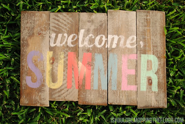 DIY Pallet Sign for Summer