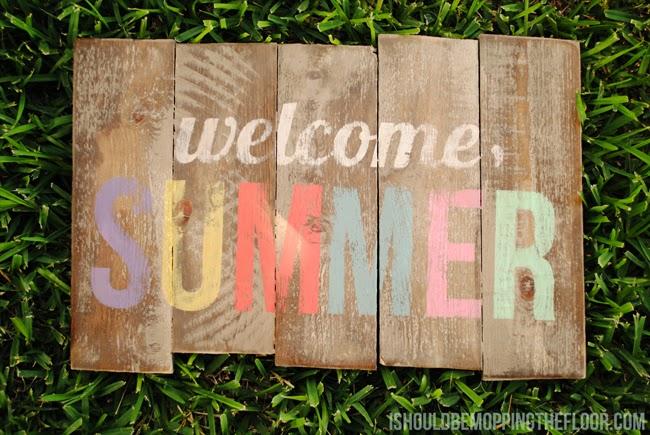 DIY Pallet Sign for Summer