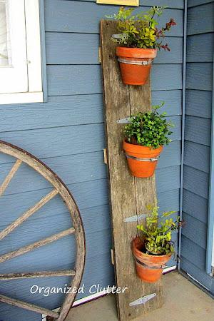 Reclaimed Wood Terra Cotta Pot Holder