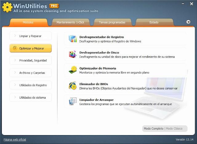 WinUtilities Professional v13.14 Final en Español
