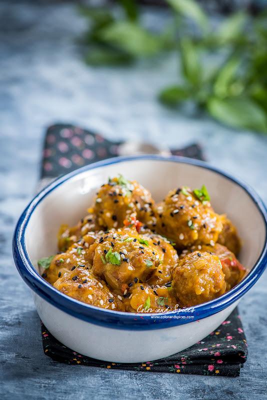 meatballs with mango relish
