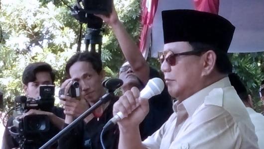 Prabowo Ingin Lihat Rakyat Indonesia Sejahtera Sebelum Meninggal Dunia