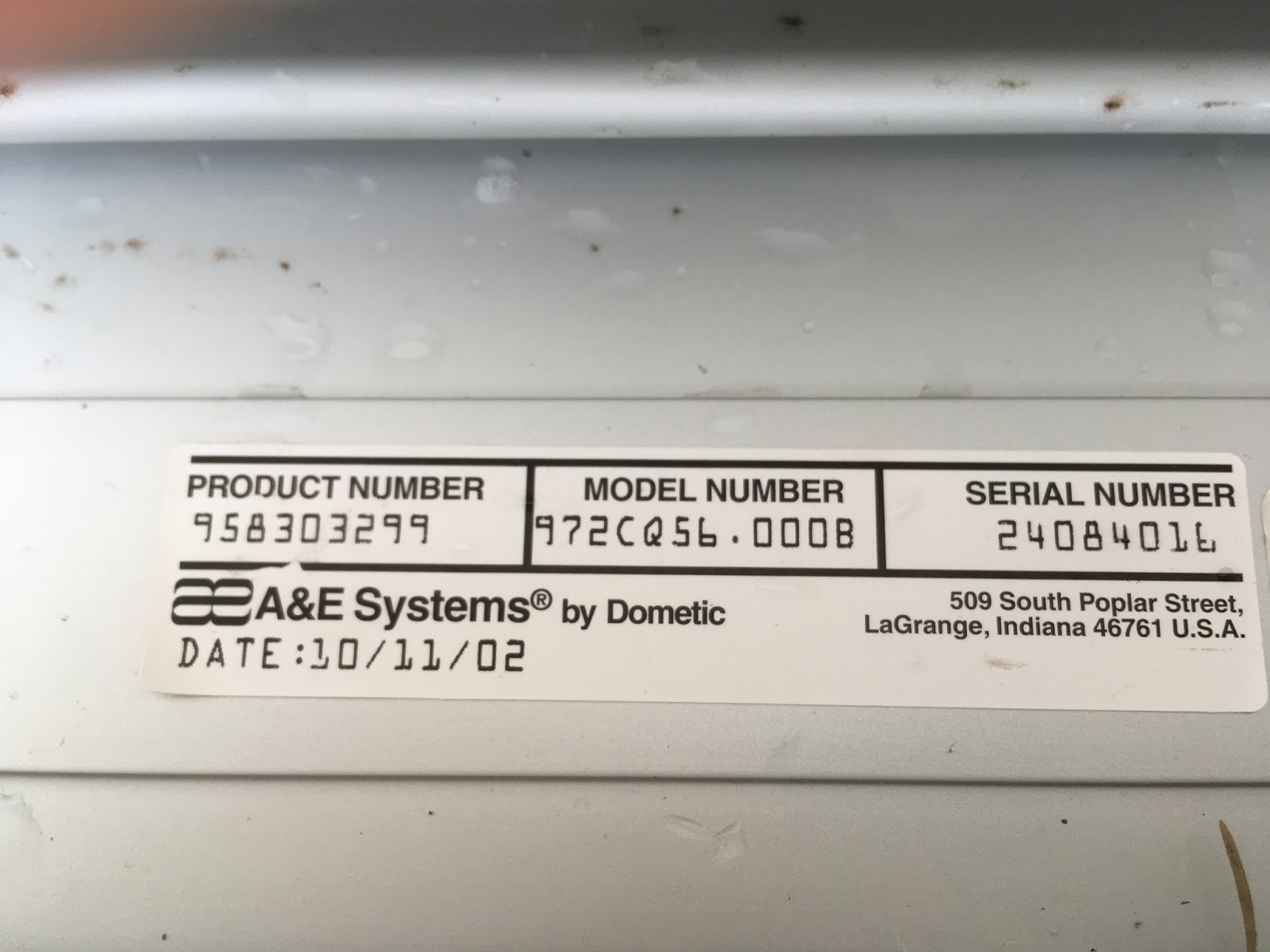 dometic electric awning manual override
