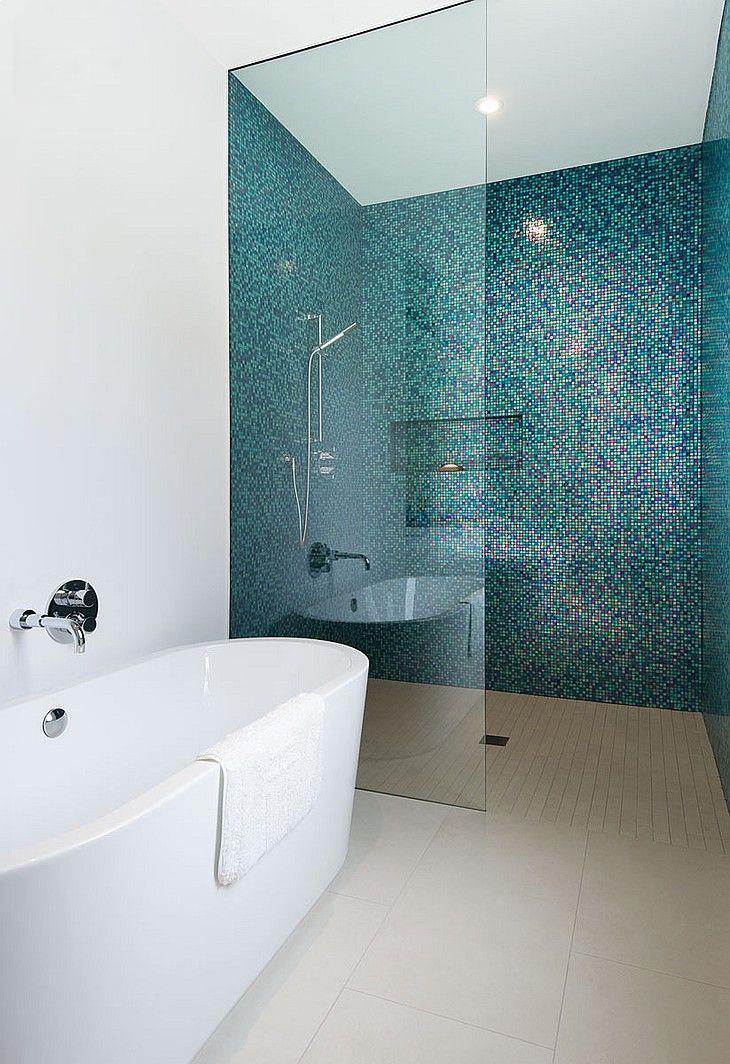 coastal style coloured bathroom tiles