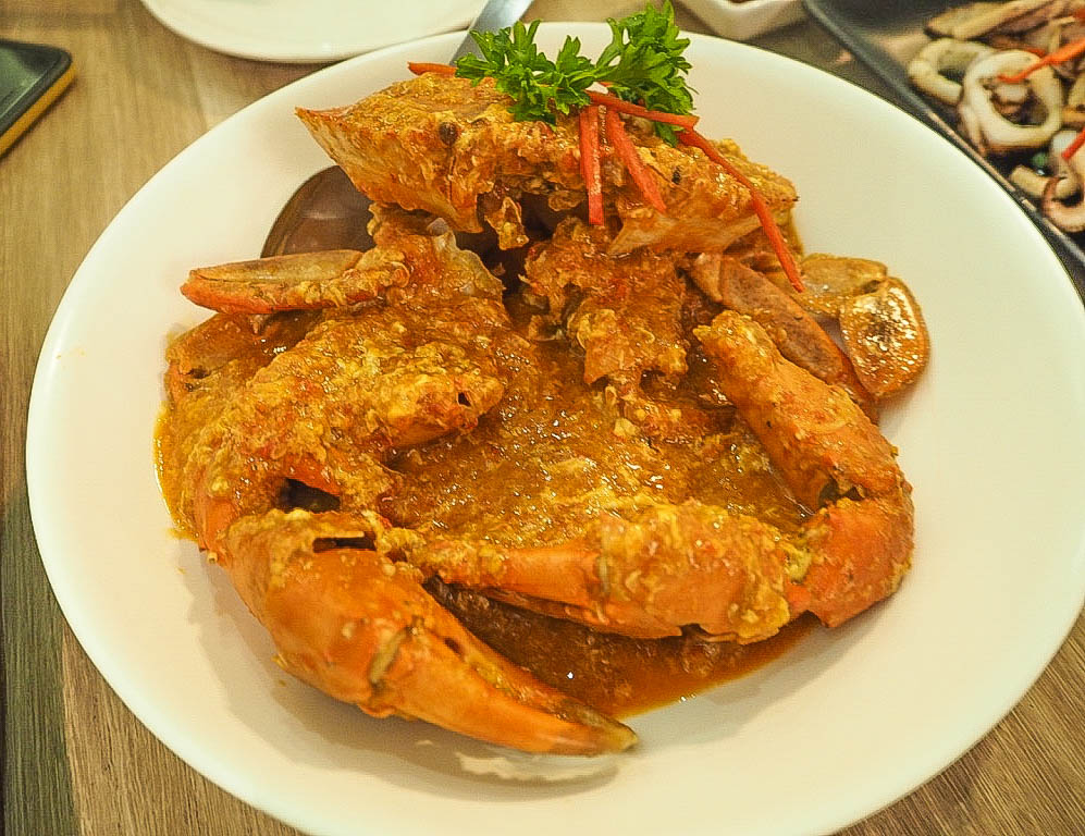 Red chilli crab at Momma Kong's, Singapore