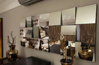 foto de espelho em 3d na cor bronze