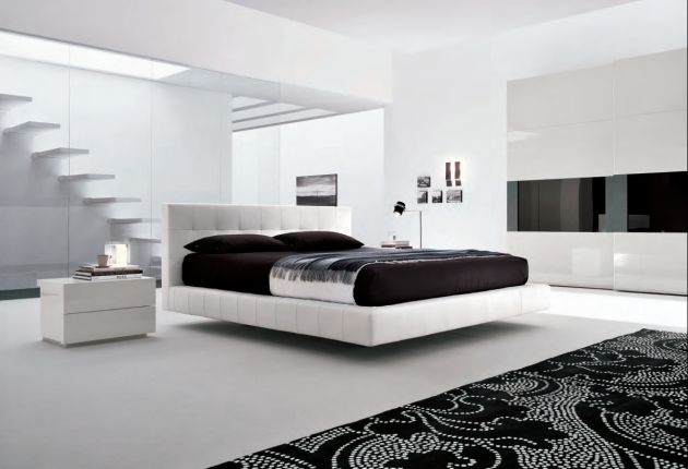 modern bedroom design with black and white | Decorating Inspiration: Black & White Room Design