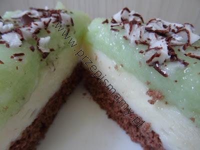 Ciasto czekoladowe z budyniem miętowym