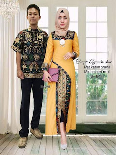 model baju batik pesta simple
