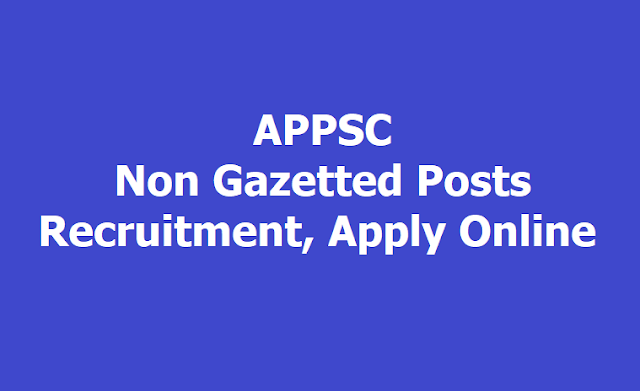 APPSC Non Gazetted Posts Recruitment