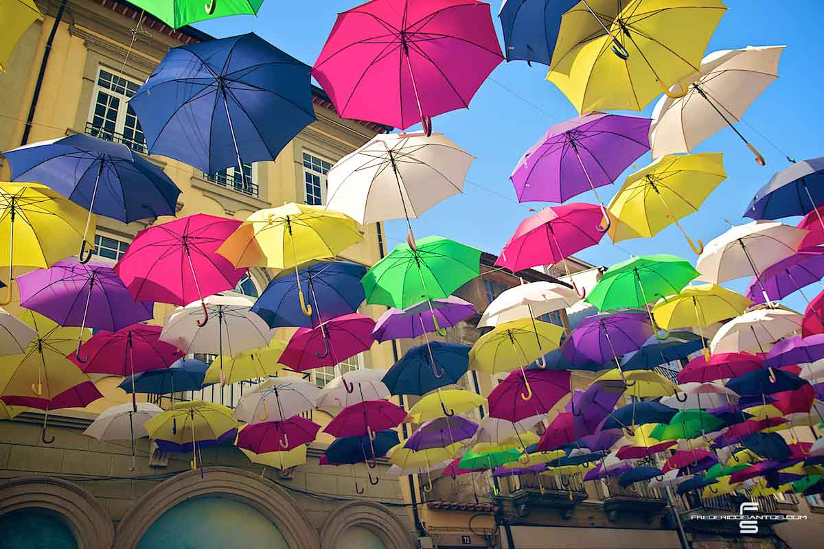 Agueda Portugal umbrellas guarda chuva