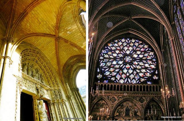 Detalhes decorativos da Sainte Chapelle, Paris