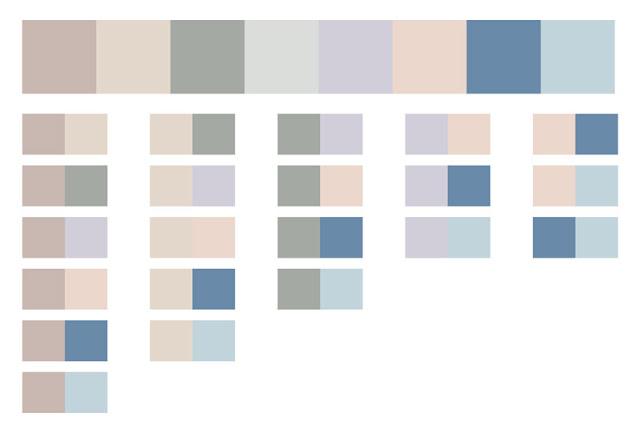 Цветовая палитра капсульного гардероба, серый, розовый, сиреневый, голубой