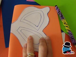 disegnare una farfalla su fommy o gomma crepla