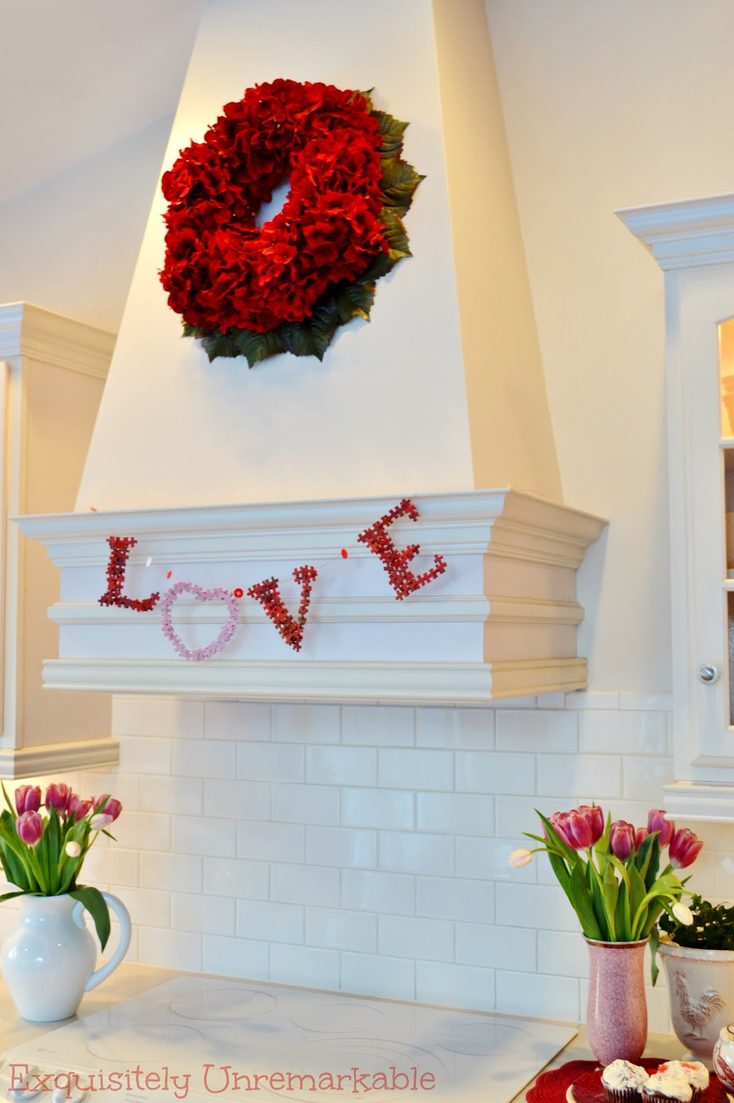 Valentine decoration banner