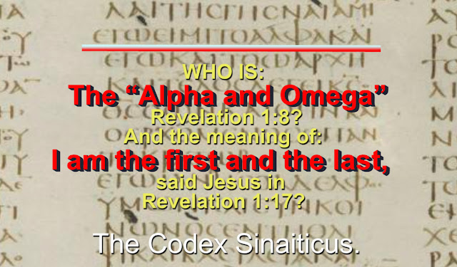 "WHO IS: Lazarus and the RICH MAN? WHO IS: The ""Alpha and Omega"" Revelation 1:8? WHAT IS the meaning of: I am the first and the last, said Jesus in Revelation 1:17?"