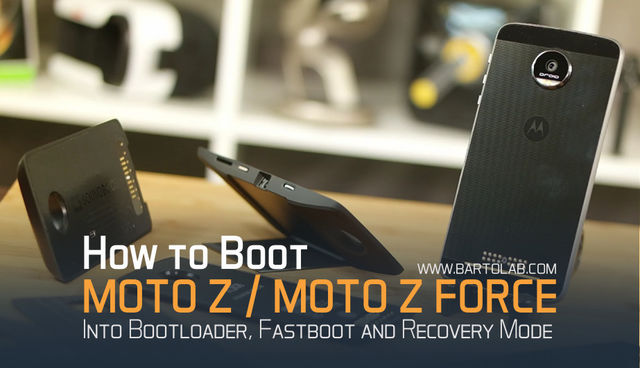 Enter Bootloader, Fastboot and Recovery Mode on Moto Z