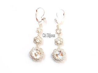 orecchini sposa con cristalli swarovski